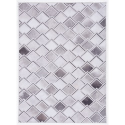 "Linon Home Décor Products Bingham Area Rug, 6' 7"" x 9' 7"", Keller, Gray/Ivory"
