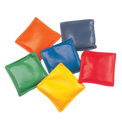 """Champion Sports Nylon Bean Bags, 4"""", Assorted Colors, Pack Of 12"""
