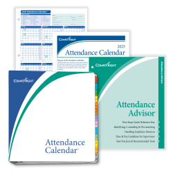 """ComplyRight™ 2021 Attendance Calendar Kit, 8 1/2"""" x 11"""", White, Pack Of 200"""