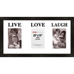 """PTM Images Photo Frame, Live, Love, Laugh, 22""""H x 1 1/4""""W x 12""""D, Black"""