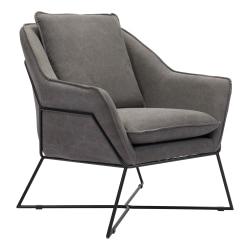 Zuo® Modern Lincoln Lounge Chair, Gray/Black