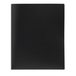Office Depot® Brand 2-Pocket Poly Folder, Letter Size, Black