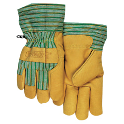 Anchor Brand Cold Weather Gloves, Large, Pigskin, Gold, Pack Of 6
