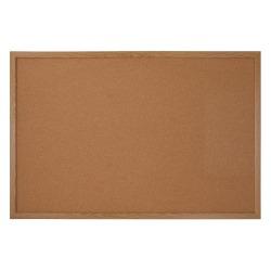 "Office Depot® Brand Cork Bulletin Board, 48"" x 96"", Wood Frame With Oak Finish"