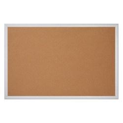 "Office Depot® Brand Cork Bulletin Board, 36"" x 48"", Aluminum Frame With Silver Finish"