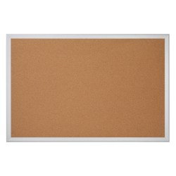 "Office Depot® Brand Cork Bulletin Board, 48"" x 72"", Aluminum Frame With Silver Finish"