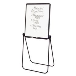 """Quartet® Ultima Easel, Whiteboard/Flipchart, 27"""" x 34"""", Reversible, Black Frame"""