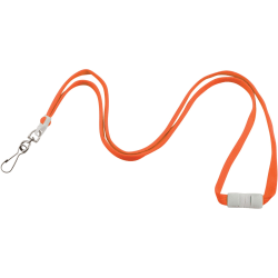 "Advantus Neon Breakaway Lanyard - 12 / Pack - 0.5"" Width x 36"" Length - Neon Orange"