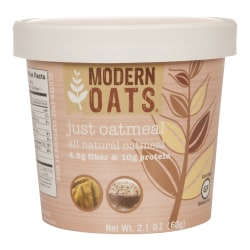 Modern Oats Premium Oatmeal Cups, Just Oats, 2.1 Oz, Pack Of 12 Cups