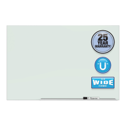 "Quartet Element™ Framed Magnetic Glass Dry-Erase Board, 50"" x 28"", Aluminum Frame"