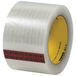 """3M™ 371 Carton Sealing Tape, 3"""" Core, 3"""" x 110 Yd., Clear, Case Of 6"""