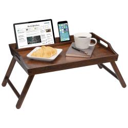 "LapGear Lap Desk With Legs, 13.9""H x 21.8""W x 2.6""D, Brown Bamboo"