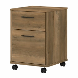 Bush Furniture Key West 2-Drawer Mobile File Cabinet, Reclaimed Pine, Standard Delivery