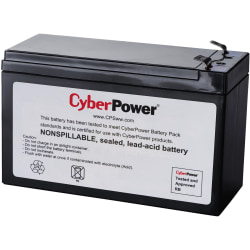 CyberPower RB1270B Replacement Battery Cartridge - 1 X 12 V / 7.2 Ah Sealed Lead-Acid Battery, 18MO Warranty