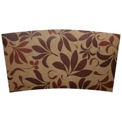 Karat Hot Cup Sleeves, 24 Oz, Brown, Pack Of 1,000 Sleeves