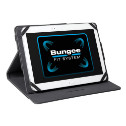 "Targus Universal THZ457 Carrying Case for 9"" to 10.1"" Tablet - Black - Faux Leather, Polyurethane - 10.6"" Height x 7.9"" Width x 0.8"" Depth"
