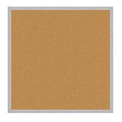 "Ghent Cork Bulletin Board, Natural, 48-1/2"" x 48-1/2"", Aluminum Frame"
