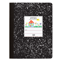 "Office Depot® Brand Primary Composition Book, 7-1/2"" x 9-3/4"", Unruled/Primary Ruled, 100 Sheets (200 Pages)"