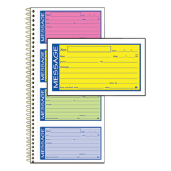 Adams® High-Impact Phone Message Book, Neon Colors, Book Of 200 Messages