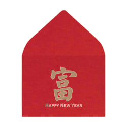 """LUX Mini Envelopes With Moisture Closure, #17, 2 11/16"""" x 3 11/16"""", Chinese New Year, Pack Of 1,000"""
