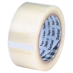 "3M® Tartan 369 Carton Sealing Tape, 2"" x 55 Yd., Clear, Case Of 36"