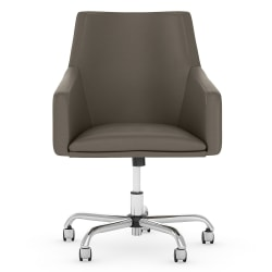 Bush Business Furniture London Mid-Back Box Chair, Washed Gray, Standard Delivery