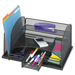 "Safco® 3-Drawer Desktop Organizer, 16""H x 11 3/8""W x 8""D, Black"
