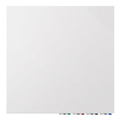 """Ghent Aria Magnetic Dry-Erase White Board, Glass, 48"""" x 48"""", White"""