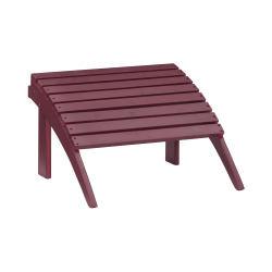 """Linon Troy Outdoor Ottoman, 13-1/2""""H x 21-11/16""""W x 21-1/8""""D, Red"""