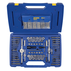 117-pc Machine Screw/Fractional/Metric Tap & Hex Die and Drill Bit Deluxe Set