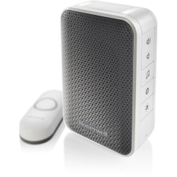 Honeywell 3 Series Portable Wireless Doorbell With Strobe Light And Push Button, RDWL313A2000E
