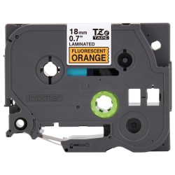 "Brother® TZe-B41 Black-On-Fluorescent-Orange Tape, 0.75"" x 16.4'"
