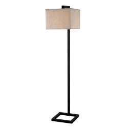 "Kenroy Home 4 Square Floor Lamp, 64""H, Oil-Rubbed Bronze"