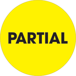 "Tape Logic® Preprinted Special Handling Labels, DL1277, Partial, Round, 2"", Fluorescent Yellow, Roll Of 500"