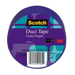 "Scotch® Colored Duct Tape, 1 7/8"" x 20 Yd., Purple"