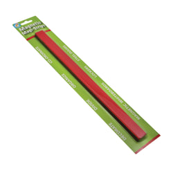 """Ashley Productions MAGI-STRIPS Magnetic Strips, 12""""H x 13/16""""W x 1/16""""D, Red, 12 Strips Per Pack, Set Of 5 Packs"""
