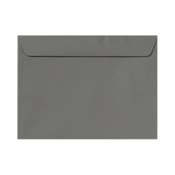 """LUX Booklet Envelopes With Moisture Closure, #9 1/2, 9"""" x 12"""", Smoke Gray, Pack Of 50"""