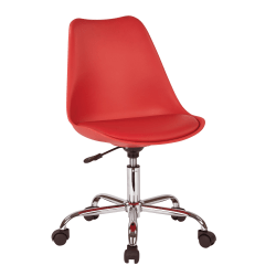 Ave Six Emerson Mid-Back Chair, Red/Silver