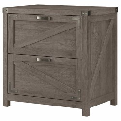 Kathy Ireland Home by Bush® Furniture Cottage Grove 2 Drawer Lateral File Cabinet, Restored Gray, Standard Delivery