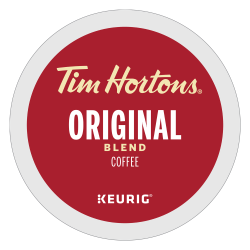 Tim Hortons Original Coffee Single-Serve K-Cup®, 7.5 Oz, Carton Of 24