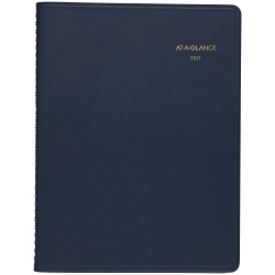 "AT-A-GLANCE® Core 15-Month Planner, 9"" x 11"", Navy, January 2021 to March 2022, 7026020"