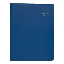 """AT-A-GLANCE® Fashion Color Weekly Appointment Book/Planner, 8-1/2"""" x 11"""", Blue, January to December 2021, 7094020"""