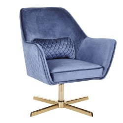 LumiSource Diana Contemporary Lounge Chair, Blue/Gold