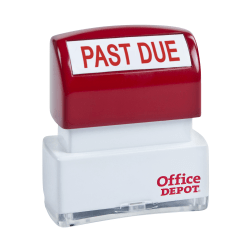 """Office Depot® Brand Pre-Inked Message Stamp, """"Past Due"""", Red"""