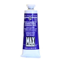 Grumbacher Max Water Miscible Oil Colors, 1.25 Oz, French Ultramarine Blue, Pack Of 2