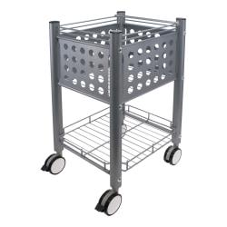 """Vertiflex® Sidekick File Cart, 29""""H x 15 3/4""""W x 15 3/4""""D, Gray"""