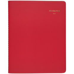 "AT-A-GLANCE® Core 15-Month Planner, 9"" x 11"", Red, January 2021 to March 2022, 7025013"