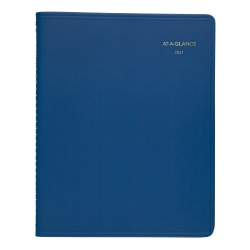 """AT-A-GLANCE® Core 15-Month Planner, 9"""" x 11"""", Blue, January 2021 to March 2022, 7025020"""