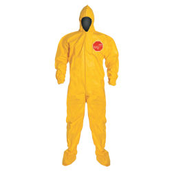 DuPont™ Tychem 2000 Tyvek® Coveralls With Attached Hood And Socks, 3XL, Yellow, Pack Of 12