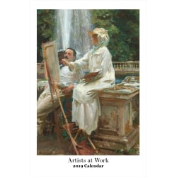 """Retrospect Monthly Wall Calendar, Artists At Work, 19-1/4"""" x 12-1/2"""", Multicolor, January to December 2019"""